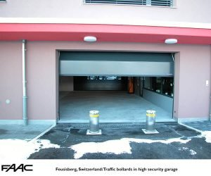 Feusisberg Switzerland Traffic bollards in high security garage