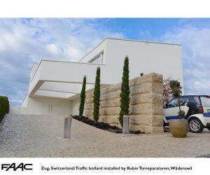 Zug Traffic bollard by Rubin Torreparaturen Wadenswil