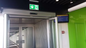 Basel, Switzerland: SF1400 Automatic doors in Escape Route – Installed by TST Türautomatik